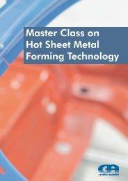 Master Class on Hot Sheet Metal Forming ... - Grundig Akademie