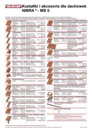 Kształtki i akcesoria dla  dachówek NIBRA®- MS 5 - Nelskamp