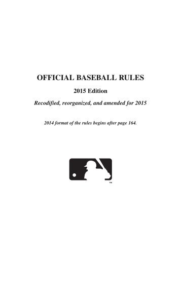 OFFICIAL BASEBALL RULES