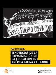 PRIVATIZACIÓN DE LA EDUCACIÓN EN AMÉRICA LATINA Y EL CARIBE