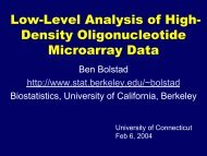 Low-Level Analysis of High- Density Oligonucleotide Microarray Data