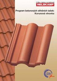 Program betonových střešních tašek: Korunová vlnovka - Nelskamp