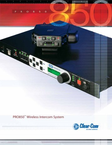 PRO850 Wireless Intercom System
