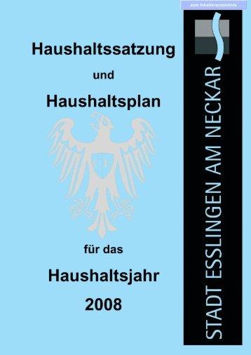 Haushaltsplan 2008 - Esslingen