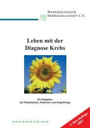 Leben mit der Diagnose Krebs - Niedersächsische ...