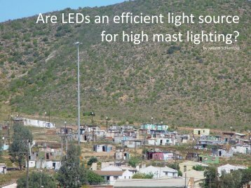 Are LEDs an efficient light source for high mast lighting? - Beka