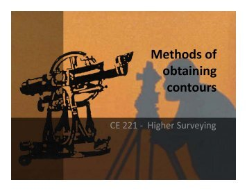 Methods of obtaining contours