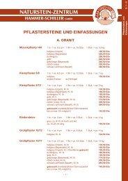 NEU! - Naturstein-Zentrum Hammer-Schiller