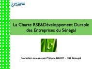 La Charte RSE&Développement Durable des Entreprises du Sénégal
