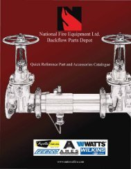 Table Of Contents Backflow Replacement Parts