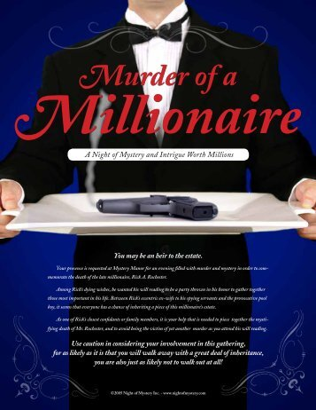 Murder of a Millionaire - Night of Mystery
