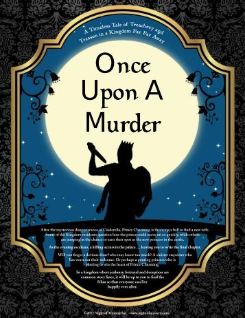 Once Upon A Murder - Night of Mystery