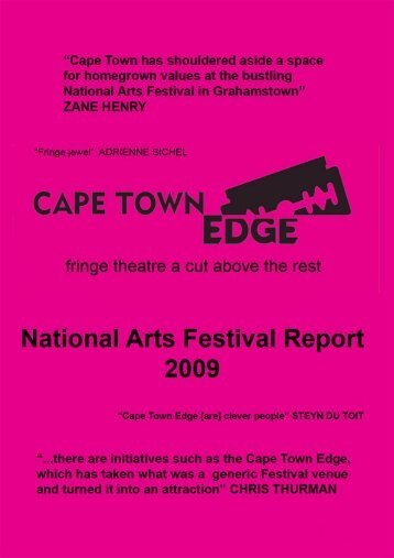 Cape Town Edge Report 2009 - Business and Arts South Africa