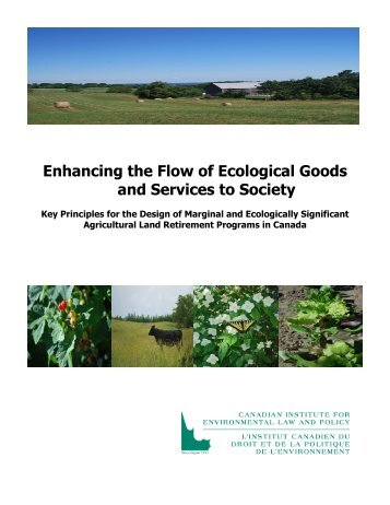 Enhancing the Flow of Ecological Goods and Services to Society