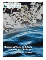 Hazardous Waste in Ontario Progress and Challenges