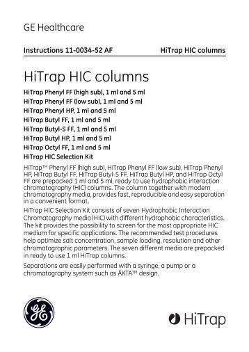 HiTrap Phenyl FF