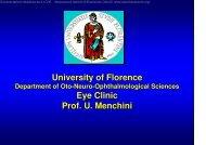University of Florence Eye Clinic Prof U Menchini