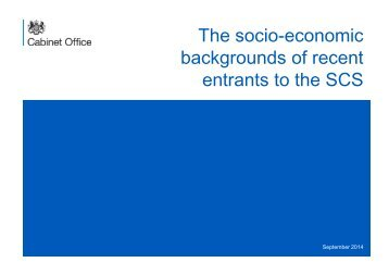 The socio-economic backgrounds of recent entrants to the SCS