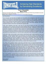 Term 3 Newsletter March 2012 - Longfield Academy, Darlington ...