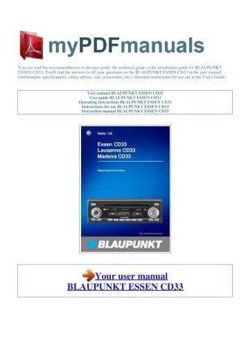 user manual blaupunkt las vegas dj ag my pdf manuals rh yumpu com Blaupunkt TV From 80s Blaupunkt TV 3D