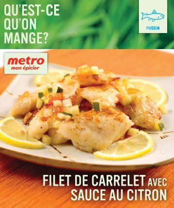 Filet de CARRELET sauce au citron