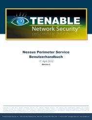 Tenable Nessus Perimeter Service User Guide