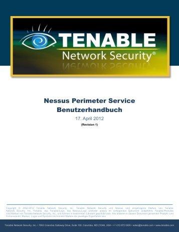 Tenable Nessus Perimeter Service User Guide