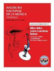 INSTITUTO NACIONAL DE LA MÚSICA (INAMU)