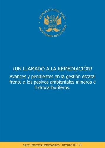 ¡UN LLAMADO A LA REMEDIACIÓN!