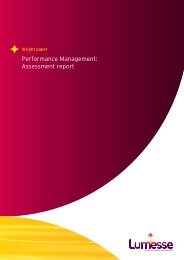 Performance Management: Assessment report - Lumesse