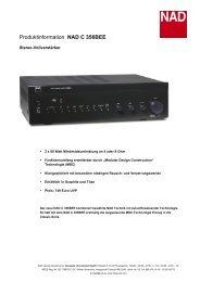 Produktinformation NAD C 356BEE - Media Seller OHG