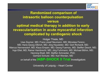 IABP-SHOCK II Hotline ESC Final 08-2012 - Clinical Trial Results
