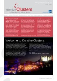 Welcome to Creative Clusters - inteli