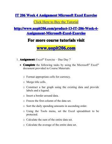 it 206 week 2 ms word exercise