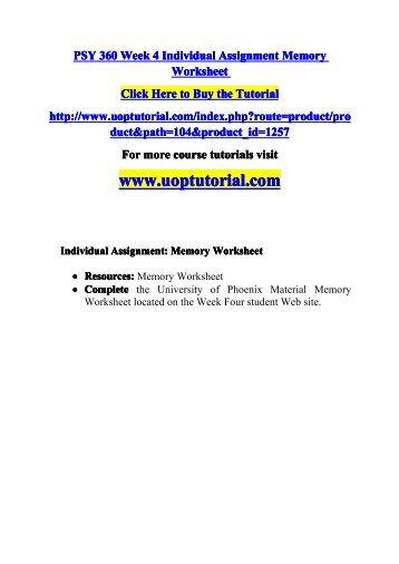 psy 360 memory worksheet