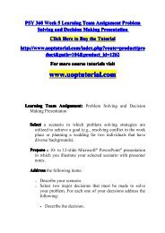PSY 360 Week 5 Learning Team Assignment Problem Solving and Decision Making Presentation.pdf