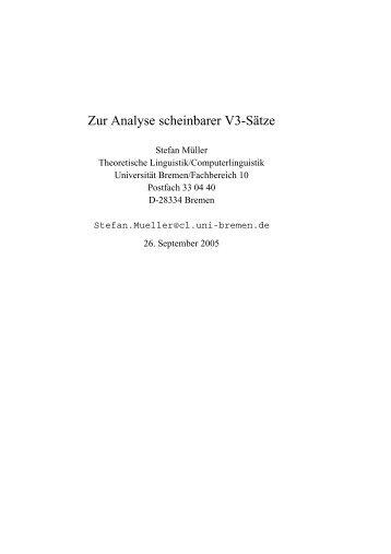 2 Scheinbare Vn-Sätze - German Grammar Group FU Berlin