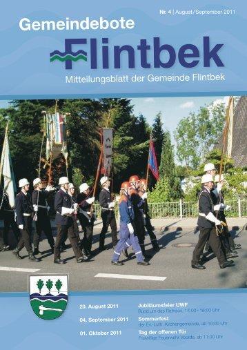 Telefon 04 31/26 09 86 60 Mo.–Fr. 10 –18 Uhr - Gemeinde Flintbek