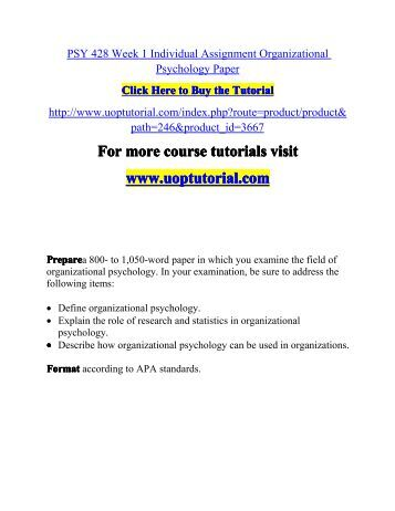 Organizational Psychology essay writing templates