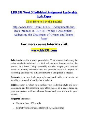 individual innovative assignment