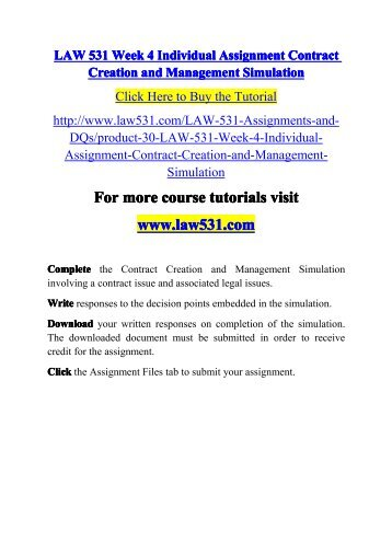 Contract creation and management essay