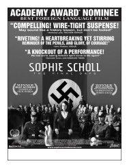 SOPHIE SCHOLL - Zeitgeist Films.
