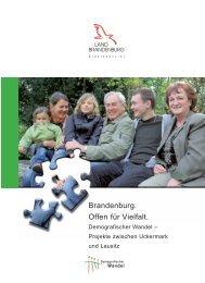 Brandenburg. Offen für Vielfalt. - Demografischer Wandel in ...