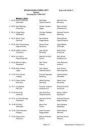 Einzelmeisterschaften 2011 - Esens