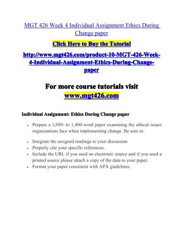 changing ethics essay