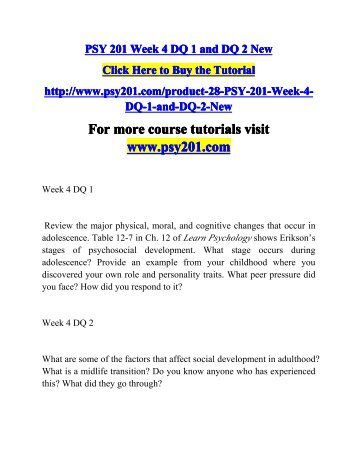 Psy 103 week 4 individual assignment