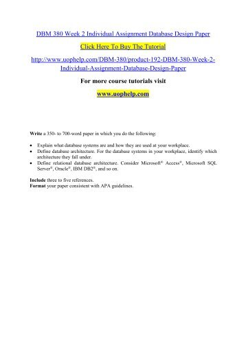 DBM 380 Week 2 Individual Assignment Database Design Paper.pdf