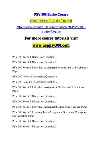 psy 300 phobias and addictions For more classes visit wwwpsy300tutorscom individual assignment: phobias and addictions paper • prepare a 1,050- to 1,400-word paper in which you discuss phobias and addictions as related to classical and operant conditioning.