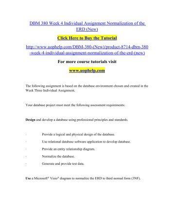 DBM 380 Week 4 Individual Assignment Normalization.pdf