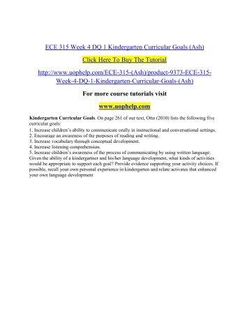 ECE 315 Week 4 DQ 1 Kindergarten Curricular Goals.pdf